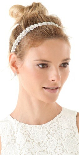 Deepa Gurnani Crystal and Pearl Headband