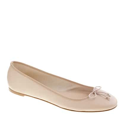 Classic J Crew Leather Ballet Flats