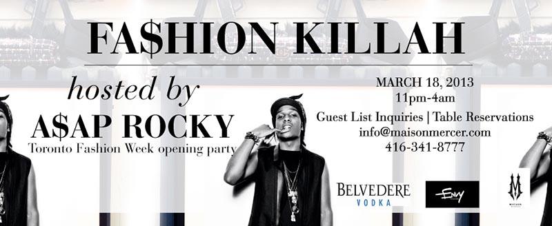 Fa$hion Killah with A$AP Rocky in Toronto