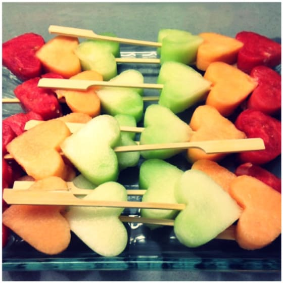 melon1 Weekly DIY: Love ly Fruit Skewers