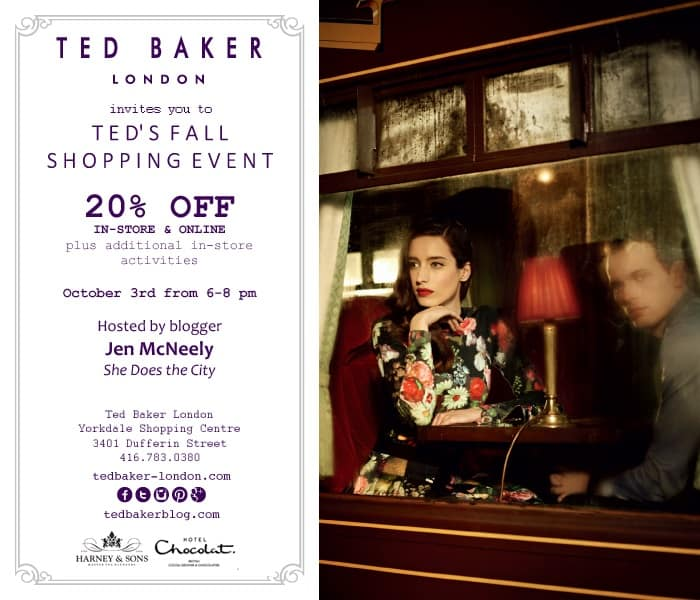 Ted Baker London Invites You To Ted's Fall Shopping Event