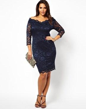 Lipstick Boutique 3 4 Length Sleeve Bodycon Dress ASOS 12815