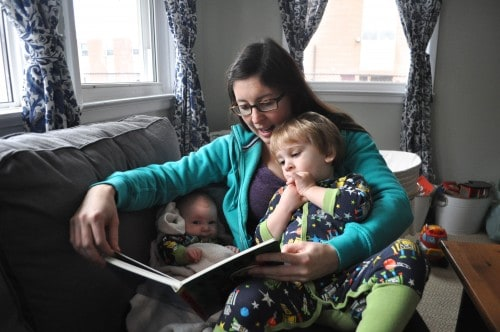 Morning cuddles 500x332 Entrepreneurial Moms: Carolyn Sinclair, Co Founder of Fifty Seven Family Learning and Wellness Centre
