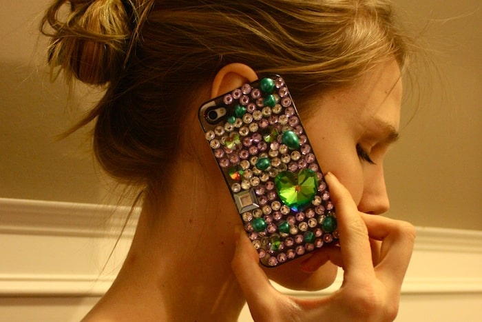 bejewelled phone case