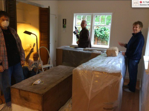 All hands on deck as my family pitches in to get my husband and I moved into Apple Tree Cottage