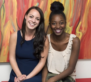 "Elizabeth Melanson (L) and Mouna Traore (R) are the creative forces behind The Mni Films, an independant film production company based in Toronto. Their first short film, ""All of Me"" will have its Toronto premiere Thursday November 13, 2014 as part of the Toronto International Short Film Festival happening at Carlton Theatre. Photo by Solana Cain"