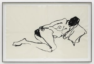 Tracey Emin Thats how You Think of me 2014 Embroidered calico 109 13/16 x 70 7/8 in. (279 x 180 cm) © Tracey Emin All rights reserved, DACS 2014 Photo: Jack Hems Courtesy White Cube