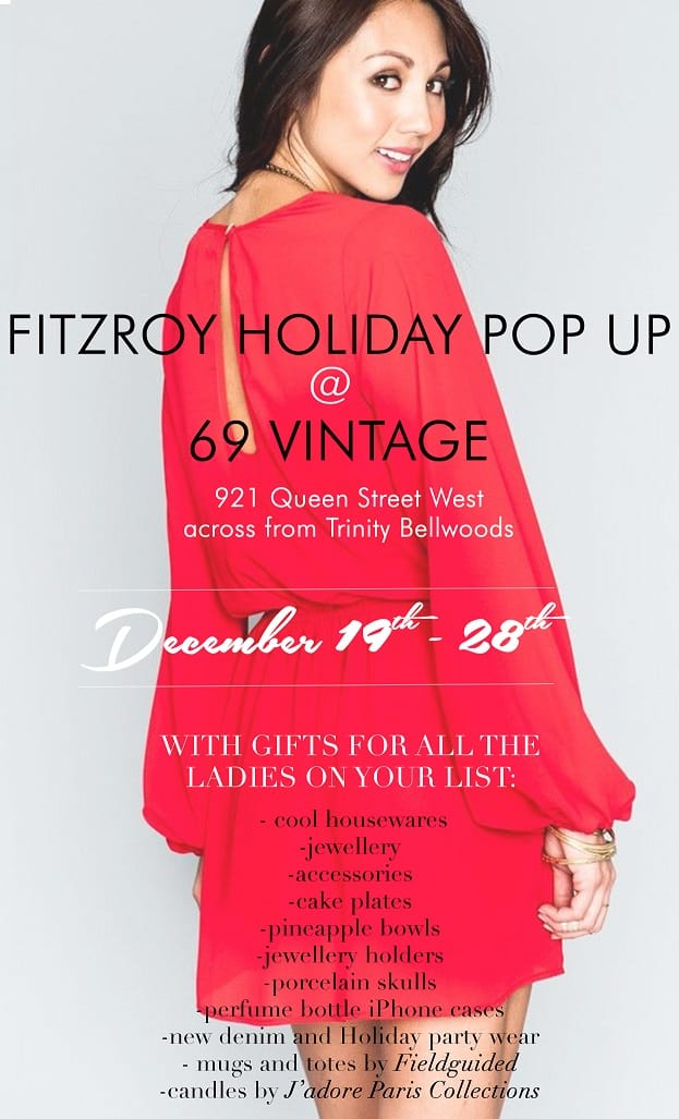 Fitzroy Boutique Holiday Pop-Up Starts Today