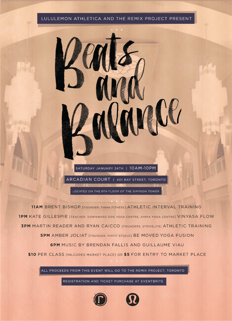 Lululemon's Beats & Balance This Saturday