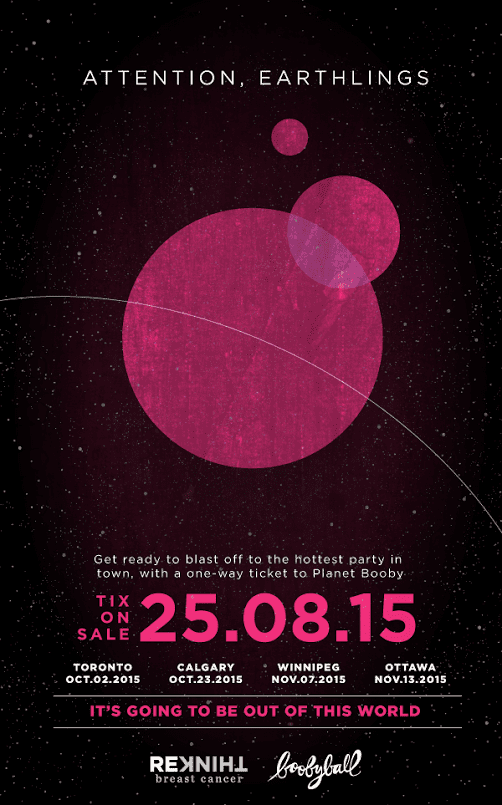 Tickets now on sale for Boobyball: Planet Booby