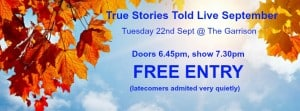 True Stories Told Live: Toronto's FREE Storytelling Event Returns
