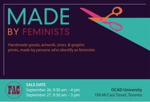 MADE by Feminists Makers' Market @ OCAD
