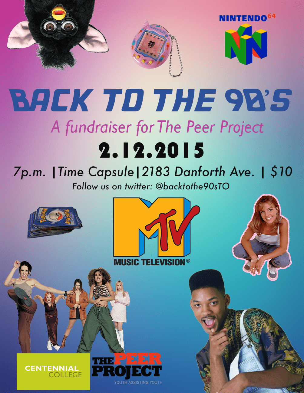 Centennial College Hosts Back to the 90s to benefit the mentoring of at-risk youth
