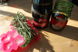 Festively Yours, A Cocktail Recipe for Rosemary Cranberry Red Moscato Bubbly