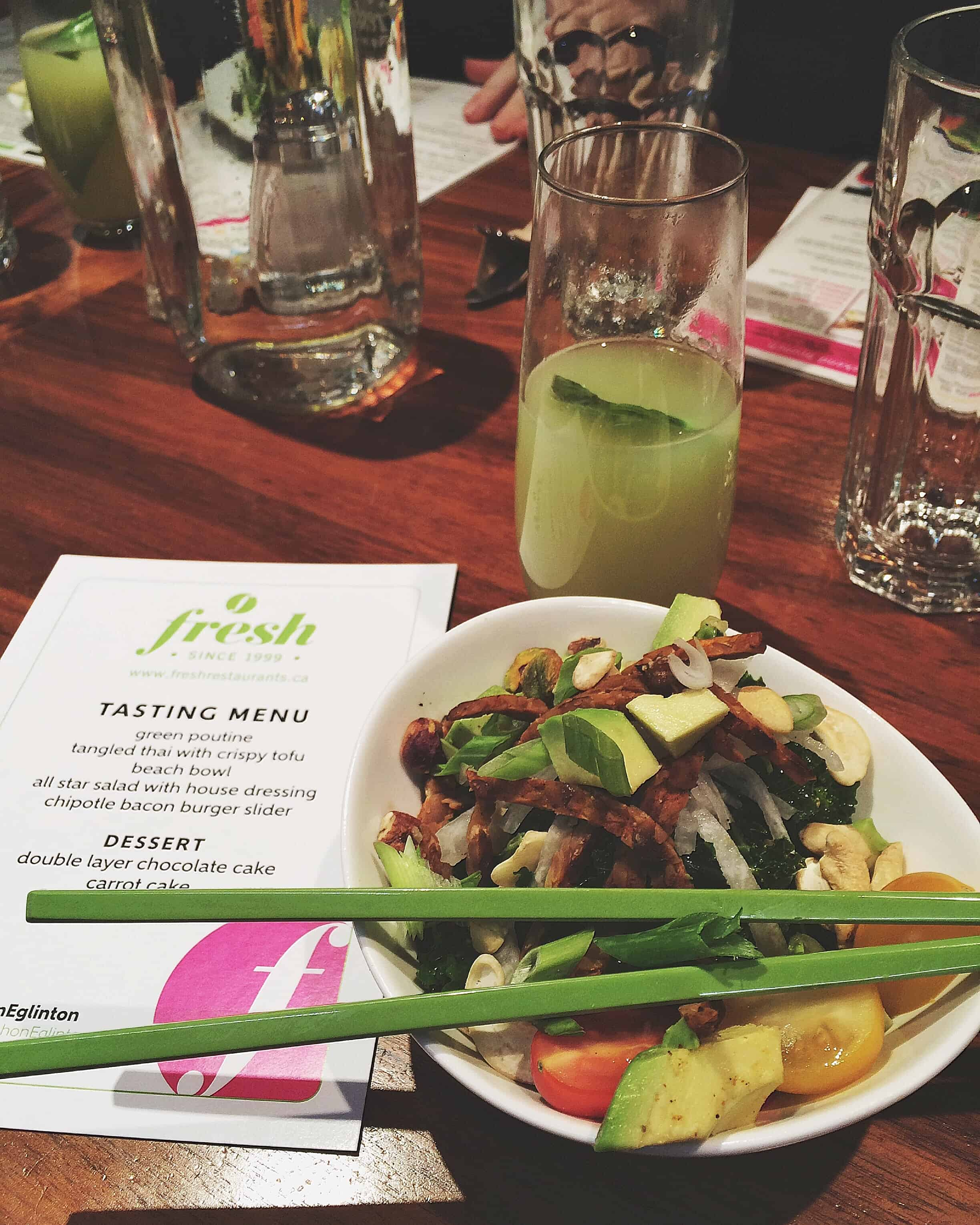 FRESH TO DEATH: NEW MENU TASTING DINNER AT FRESH ON EGLINTON