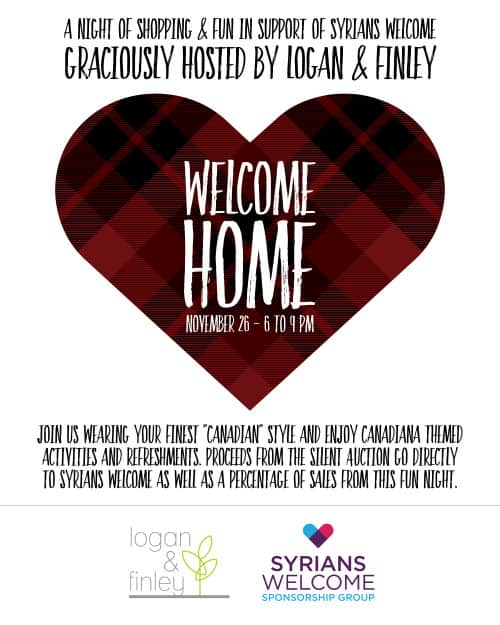 Logan & Finley is hosting Welcome Home Canadian Shopping Night