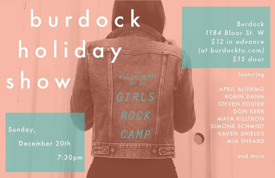Our Pick of the Week: Burdock Holiday Show for Girls Rock Camp