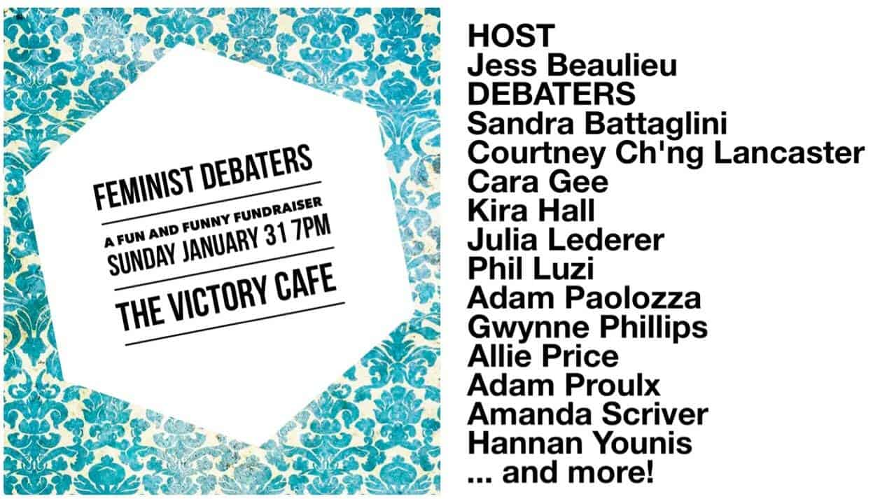 Feminist Debaters: A Fun and Funny Fundraiser