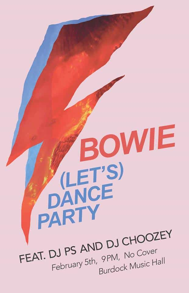 Toronto Hit List: Bowie (Let's) Dance Party, Hold Tight, With It, Love Saves The Day & more!