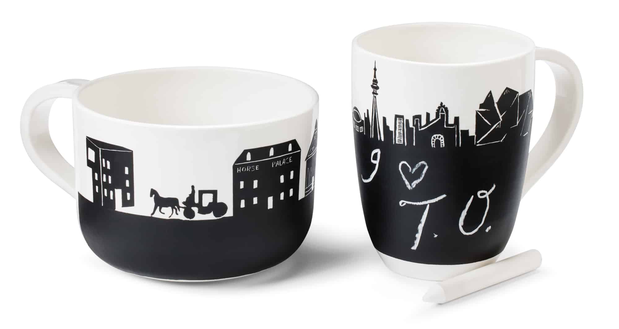 TO & MTL skyline mugs $55 each by Aurélia Turon-Lagot