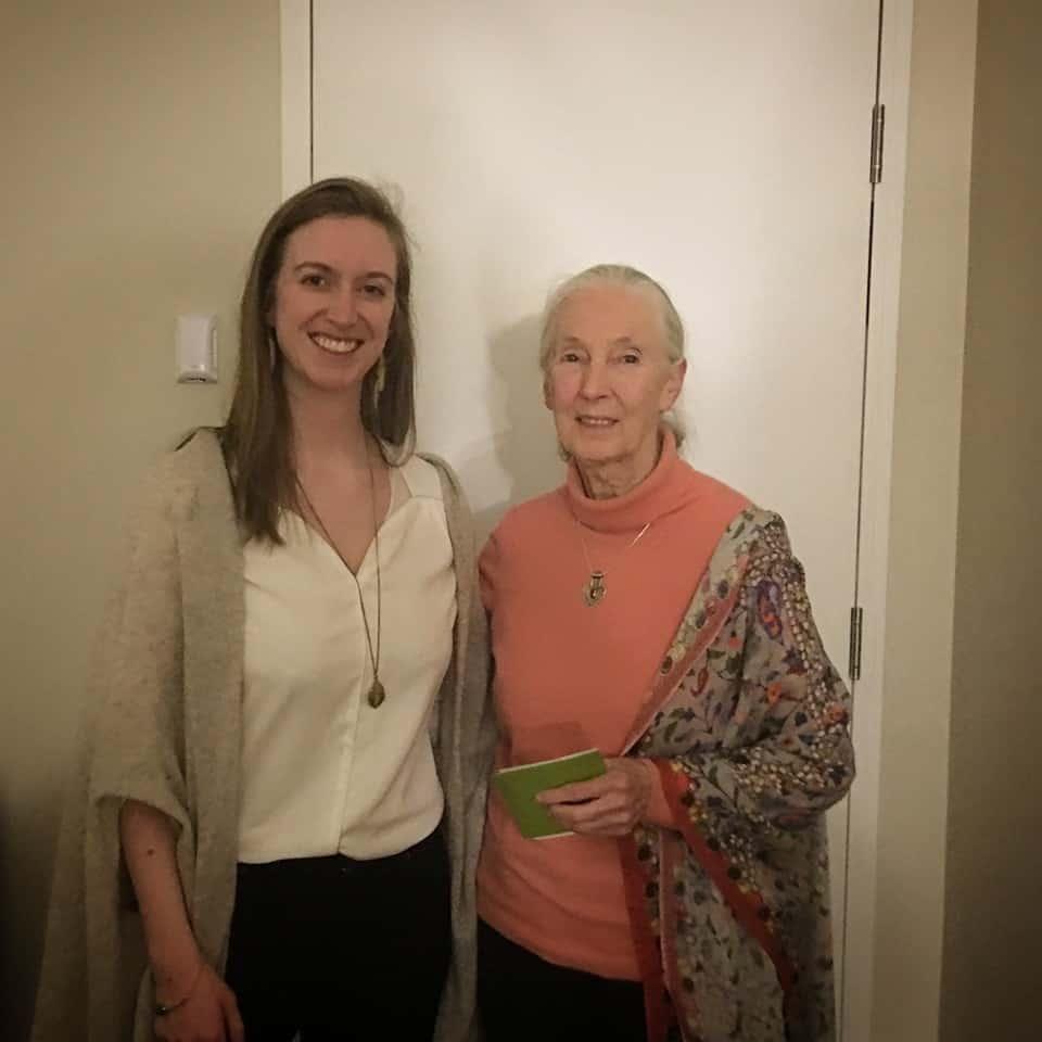 Jane Goodall and Irene Whittaker-Cumming Smiling