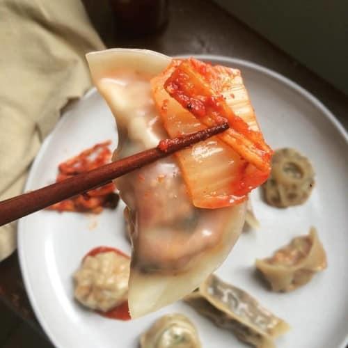Steamed Cheddar Ragu with Kimchi