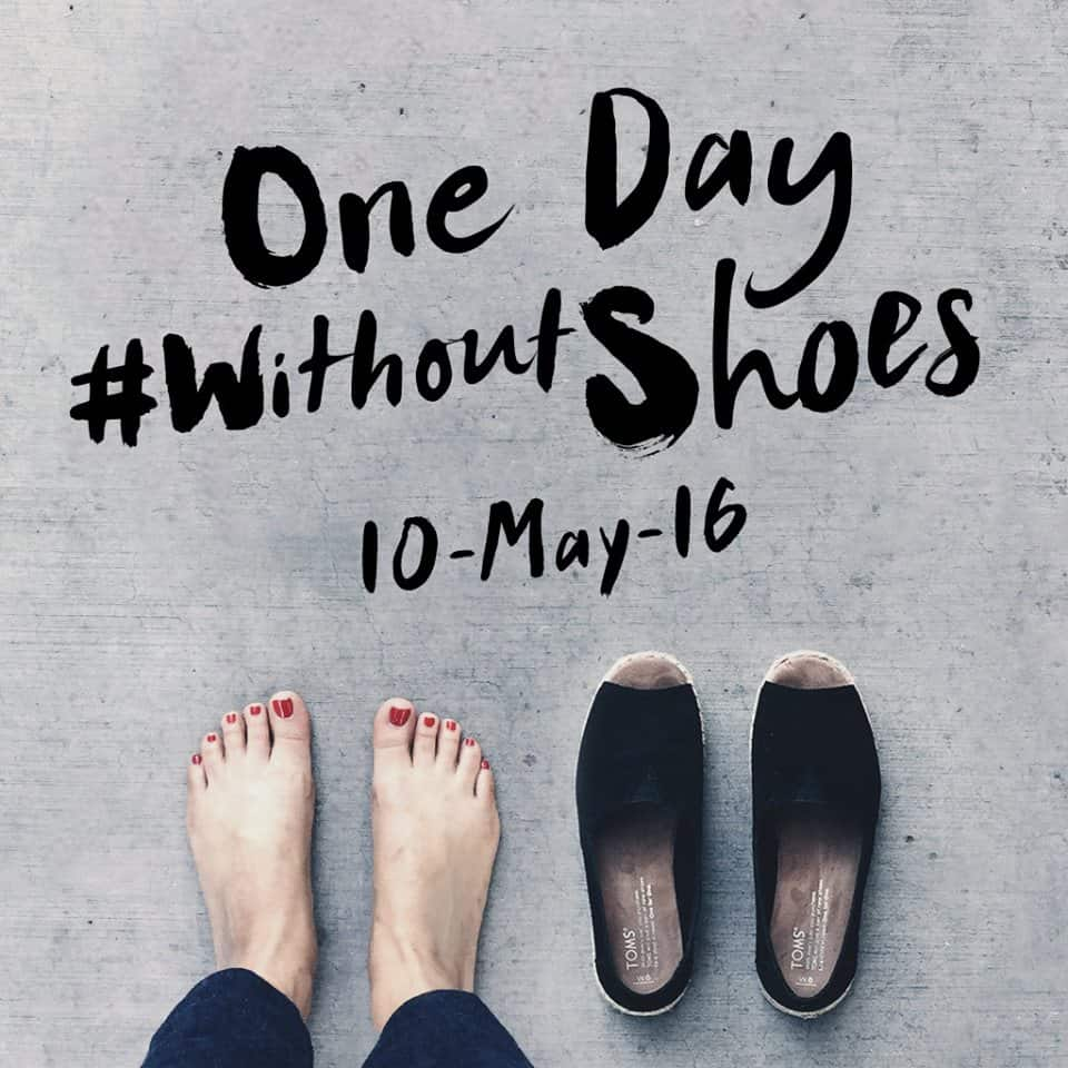 #WithoutShoes: Post your barefoot photo, TOMS will donate shoes to kids in need