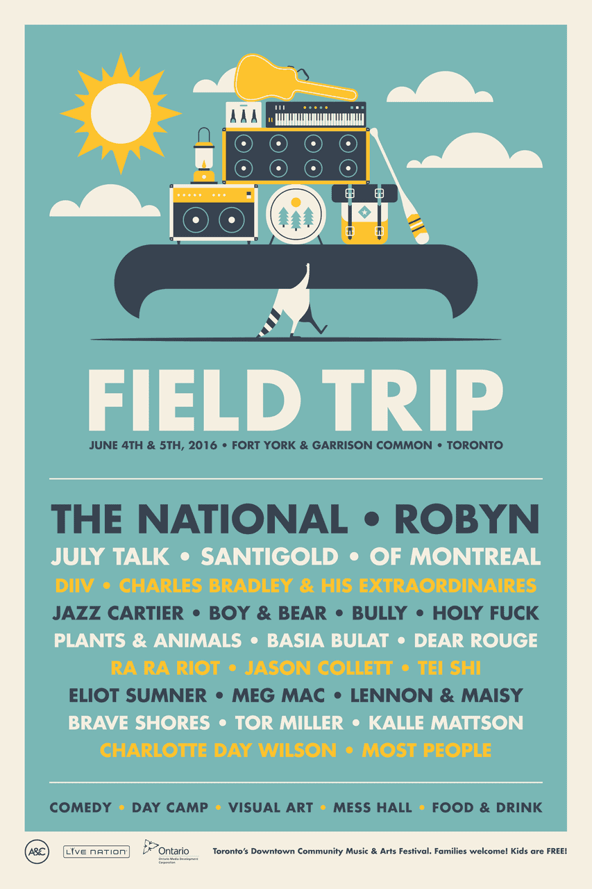 Win Tickets to Field Trip Featuring The National, Robyn & SO MUCH MORE!