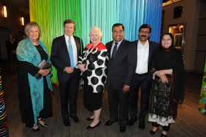 From left; Maria- Campbell, Mayor John Tory, The Honourable Elizabeth Dowdeswell, Dr. Abuelaish, Ziauddin Yousafzai and Tor Pekai