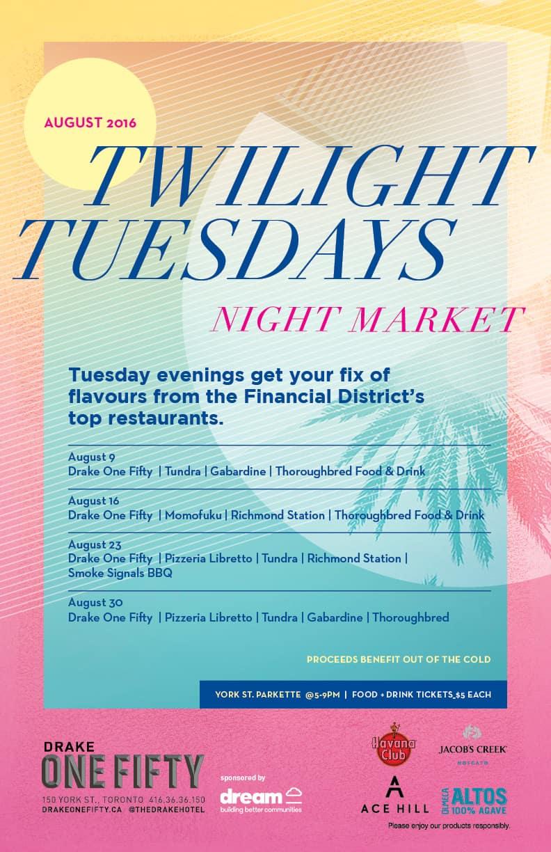 Twilight Tuesday Night Market in York Street Parkette