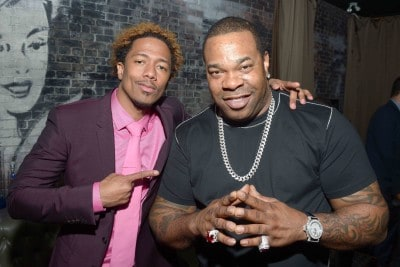 "TORONTO, ON - SEPTEMBER 11:  Director/Actor/Producer Nick Cannon (L) and musician Busta Rhymes attends the ""King of the Dancehall"" premiere screening party presented by Ciroc during the 2016 Toronto International Film Festival at EFS Lounge on September 11, 2016 in Toronto, Canada.  (Photo by Matt Winkelmeyer/Getty Images for Brilliant Consulting )"