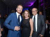 TIFF Soiree, Michael Fassbender with Ellis Jacob and Sharon Jacob, credit WireImage Getty for TIFF