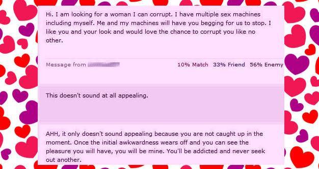 best internet dating messages
